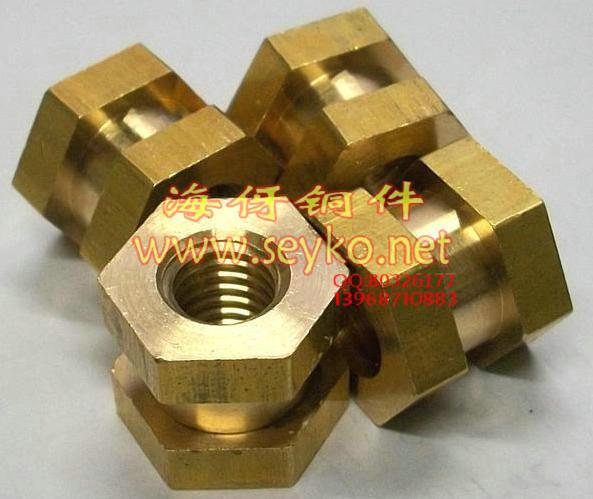 六角铜螺母 铜嵌件