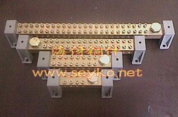 零线接地铜排-双排螺孔接地排